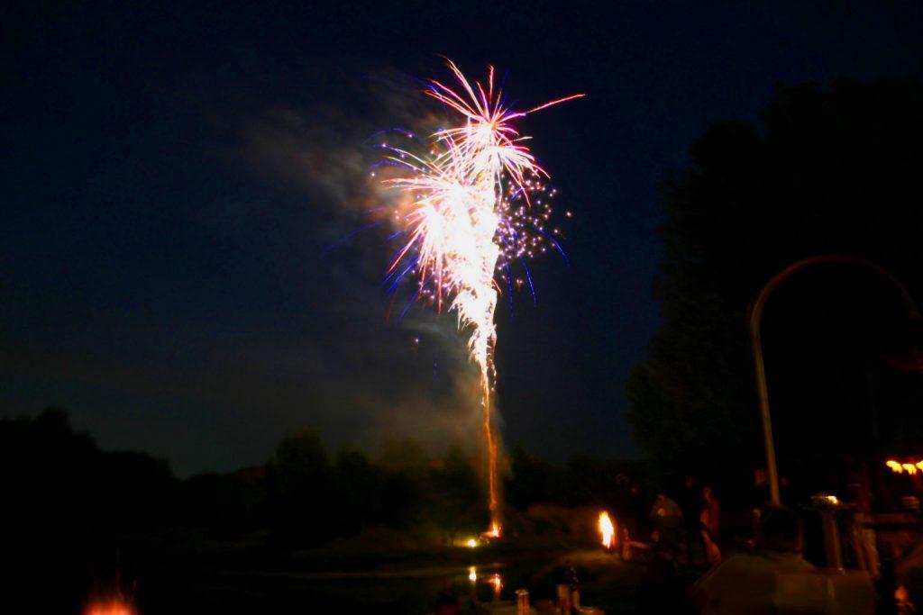 Arbeitsdienst 2008 - Feuerwerk am See