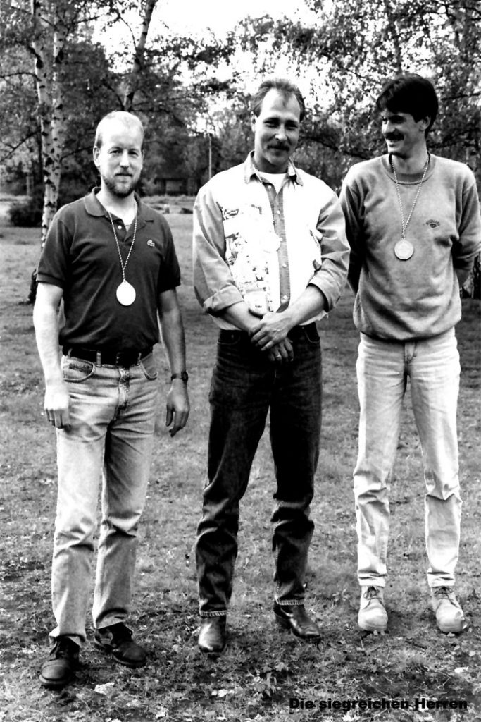 Casting Bezirksmeisterschaften 1994 - Die siegreichen Herren