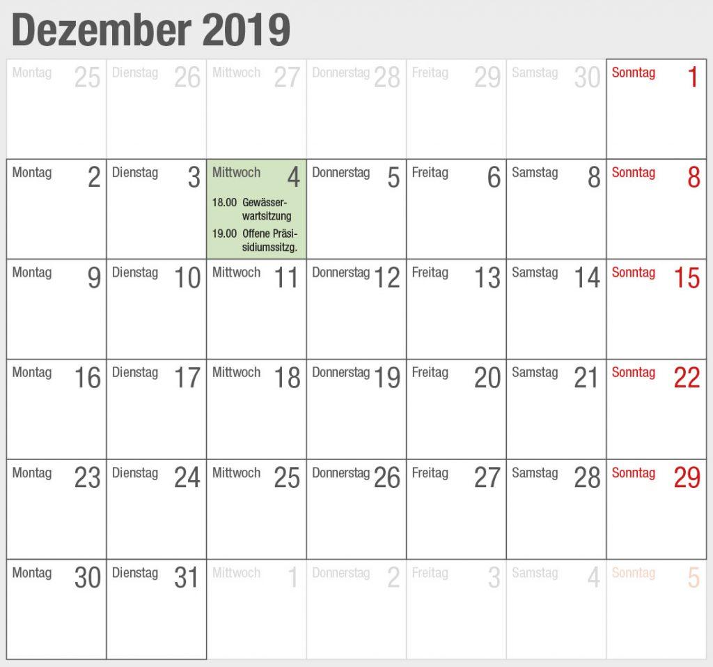 Kalender 2019-12