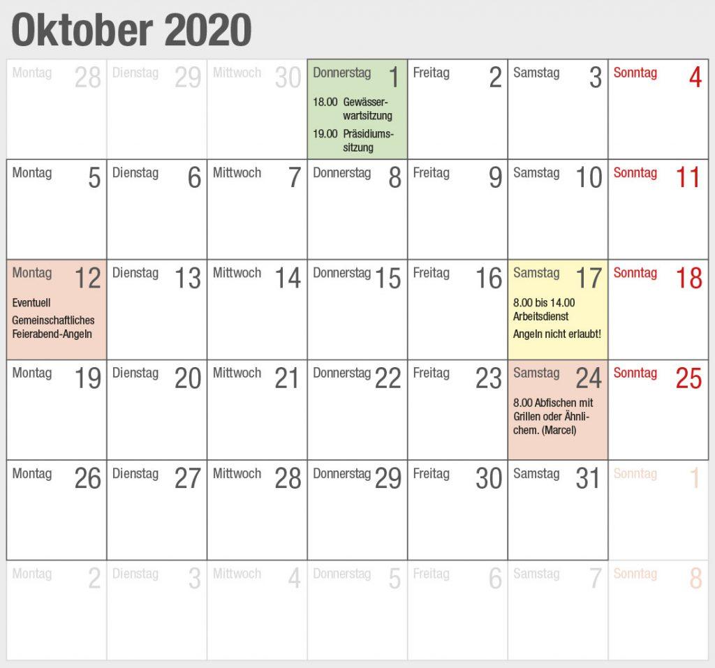 Kalender 2020-10