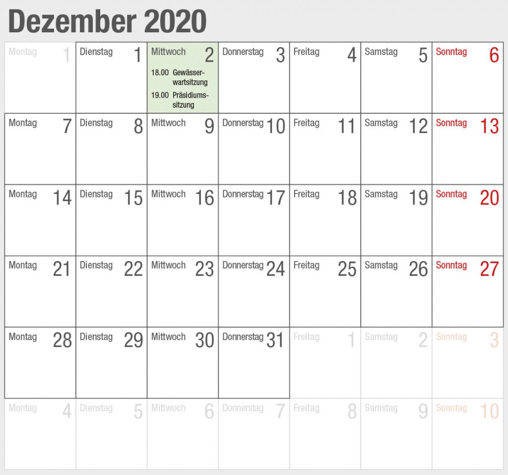 Kalender 2020-12